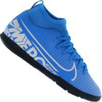 Chuteira Futsal Nike Mercurial Superfly 7 Club Ic - Infantil - Azul Cla/Branco