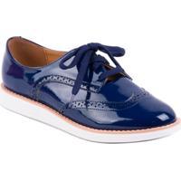 Sapato Vizzano Oxford Verniz Marinho - Feminino