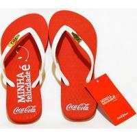 Chinelo Coca-Cola Minha Felicidade - Feminino-Vermelho