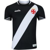 ... Camisa Do Vasco Da Gama I 2018 Diadora - Jogador - Preto 187022eac99