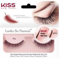 Cílios Postiços Kiss Ny - Looks So Natural Shy Pack Unitário - Unissex