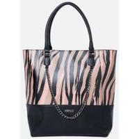 Shopping Bag Print Namíbia Est Zeb Marrom E Salmão