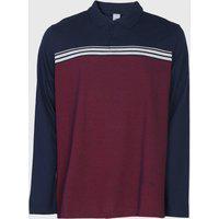 Camisa Polo Malwee Reta Listras Azul-Marinho/Vinho