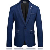 Blazer Masculino Estampado - Azul Pp