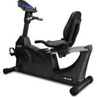 Bicicleta Ergométrica Horizontal Kr 9.6, Painel Multifunções, 12 Níveis De Resistência, Sensor Cardíaco, Suporta Até 150 Kg, Bivolt - Kikos