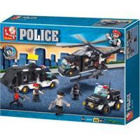 Blocos De Montar Policia Força Tática 499 Peças Indicado Para +6 Anos Material Plástico Colorido Multikids - Br837 Br837