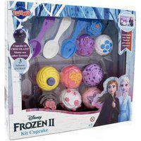 Conjunto De Atividades - Disney - Frozen - Cupcake - Toyng - Colher Az, Br E Rx Toyng038829