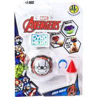Pião De Batalha - Giro Hero - Disney - Marvel - Avengers - Homem Formiga - Dtc