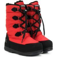 Dolce & Gabbana Kids Bota Para Neve - Vermelho