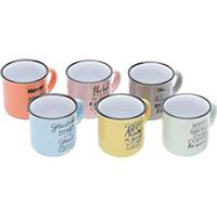 Kit Canecas Com 6 Peças Coffee Coloridas 130 Ml