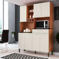 Cozinha Compacta Verdot 7 Pt 1 Gv Castanho E Champagne
