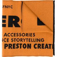 Heron Preston Echarpe Com Estampa De Logo - Laranja