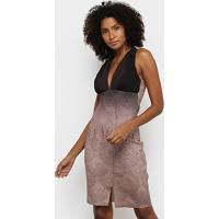 Vestido Acostamento Tubinho Curto Estampado - Feminino-Estampado