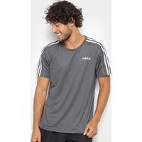e0a20ec5c01 ... Camiseta Adidas Mc D2M 3Stripes Masculina - Masculino-Cinza