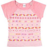 fa5c8fc2cf ... Blusa Infantil Lápis De Cor Com Silk Feminina - Feminino-Rosa