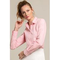 Camisa Social Rosa Oxford