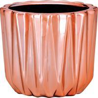 Cachepot Metalizado- Ros㪠Gold- 7Xã˜8Cm- Martmart