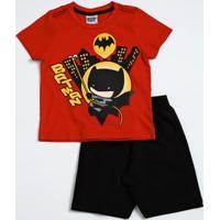 Conjunto Infantil Estampa Batman Liga Da Justiça Marisa