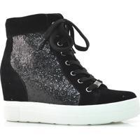 Sneaker Preto Com Glitter Quiz