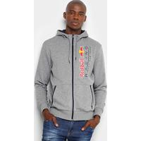 Jaqueta Puma Red Bull Racing Sweat Masculina - Masculino-Cinza