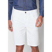 Bermuda Sarja Polo Wear Reta Lisa Branca