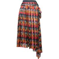 Adam Lippes Printed Wrap Skirt - Vermelho