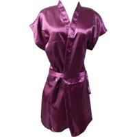 Robe Feminino Adulto Luna Cuore - Feminino-Marsala