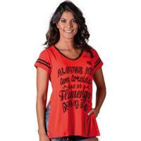 Camisa Flamengo Nation Braziline Feminina - Feminino