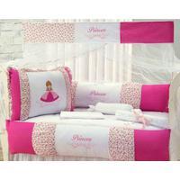 Kit Berço Americano 10 Peças Floral Princess Pink