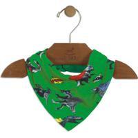 Babador Dinossauro- Verde & Cinza- 16X25Cmup Baby - Up Kids