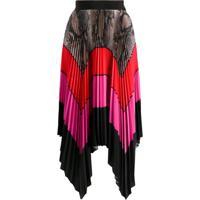 Msgm Colour-Block Pleated Maxi Skirt - Rosa
