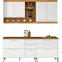 Cozinha Compacta Burguesa 7 Pt 4 Gv Branca E Freijó