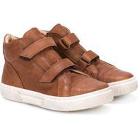 Pépé Kids Double Strap Boots - Marrom