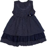Vestido Infantil Para Menina - Azul Marinho