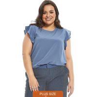 Blusa Secret Glam Azul