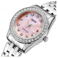 Relógio Feminino Oubaoer 6091La - Prata E Rosa