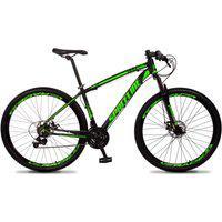 Bicicleta Aro 29 Quadro 15 Câmbio Tras. Shimano 21V Freio Mecânico Vega Preto/Verde - Spaceline