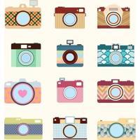 Papel De Parede Adesivo Câmeras Fotográficas