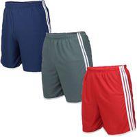 Kit 3 Shorts Masculinos Esporte Sport Futebol Fitness Calçao