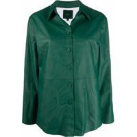 Jejia Blazer Com Recortes - Verde