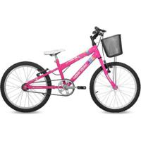 Bicicleta Aro 20 Em Alumínio Sweet Girl Com Cesta Mormaii - Feminino