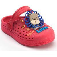 Babuche Infantil Plugt Leãozinho - Masculino-Vermelho