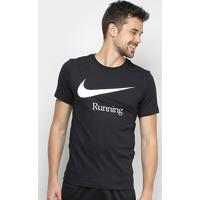 Camiseta Nike Dry Run Hbr Masculina - Masculino-Preto+Branco