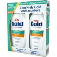 Kit Shampoo + Condicionador Niely Gold Pós Química
