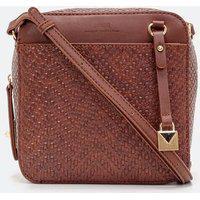 Bolsa Transversal Em Tresse Camera Bag | Satinato | Whisky | U