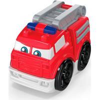 Blocos De Montar - Mega Bloks - Primeiros Carrinhos De Competição - Caminhão De Bombeiro - Mattel