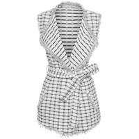Colete Feminino Tweed - Branco