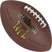 Bola De Futebol Americano Wilson Nfl Super Grip Cover - Marrom