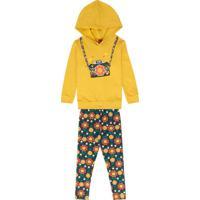 Conjunto Infantil Feminino Amarelo