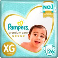 Fraldas Pampers Premium Care Tamanho Xg 26 Tiras